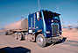 Freightliner, Semi-trailer, cabover semi trailer truck, flat front, Western Kern County