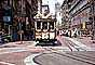Cable Car Centennial, 1873-1973, Turntable, Turnaround, Powell Street, Woolworth's, head-on, decorated, August 1974, 1970's, VRCV02P10_14