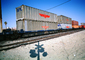 Railroad Crossing, American President Lines, APL, Piggyback Container, Piggyback, Caution, warning, intermodal