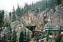 W. P. & Y. R., near White Pass, trestle bridge, forest, White Pass and Yukon Railroad, cliffs, forest, VRPV06P01_08