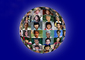 Globe of Faces, multi ethnic, interracial, culture, cultural, Round, Circular, Circle, XPGV01P04_01B