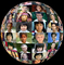 Globe of Faces, sphere, globe, multi ethnic, interracial, culture, cultural, Round, Circular, Circle, XPGV01P04_02